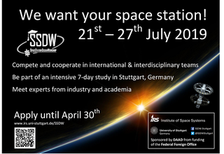 Call for Applications for the Space Station Design Workshop 2019 in Germany