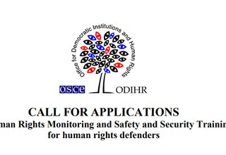 Call for Applications to Human Rights Monitoring and Safety and Security Training 2019 in Montenegro