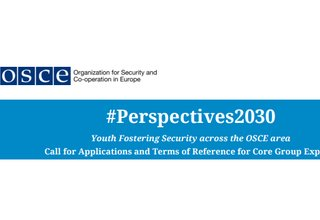 Call for Applications, #Perspectives2030: Youth Fostering Security Across the OSCE Area