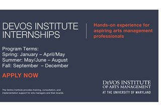 Fall 2018 and Spring 2019 Internships - DeVos Institute of Arts Management