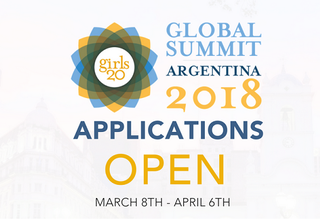 Call for Applications, G(irls)20 Global Summit 2018 in Buenos Aires, Argentina